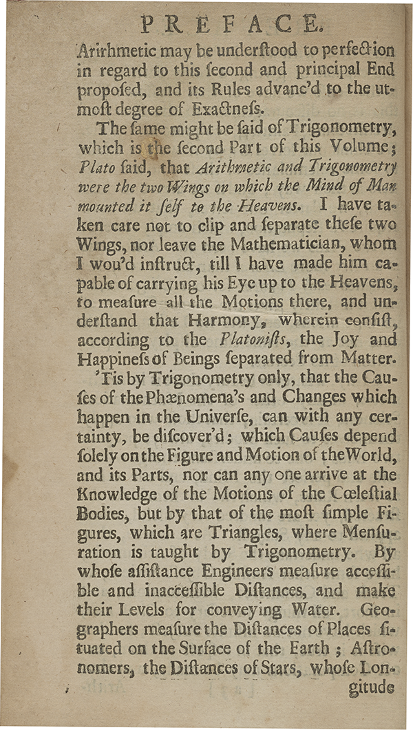 Page 25 of A Complete Course of the Mathematicks (1712).