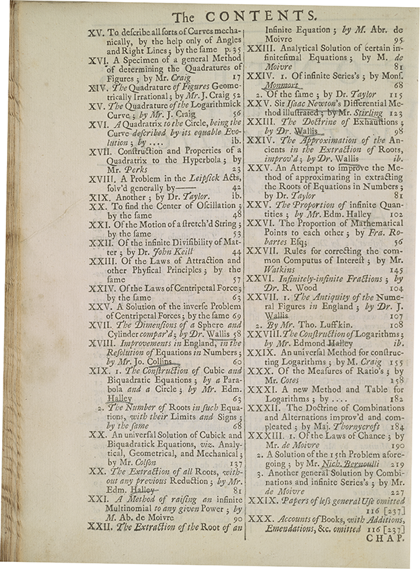 Page 24 from 1705 collection of mathematical papers from Philosophical Transactions.