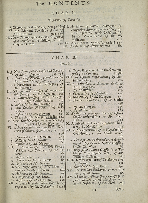 Page 25 of 1705 collection of mathematical papers from Philosophical Transactions.
