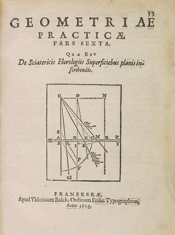 Page 35 of Adrian Metius's 1626 geometry and algebra textbook.