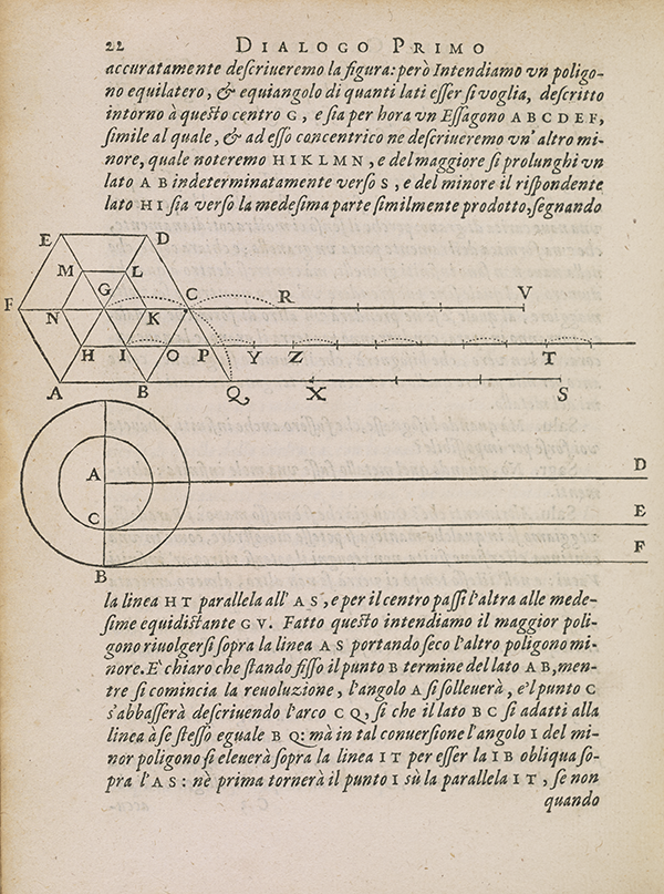 Page 22 of Galileo's 1638 Two New Sciences.