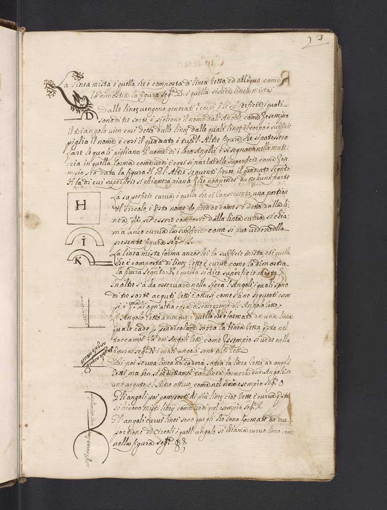 Folio from Luigi Maria Cagnacci's manuscript on astrology and mathematics, prepared after 1689.