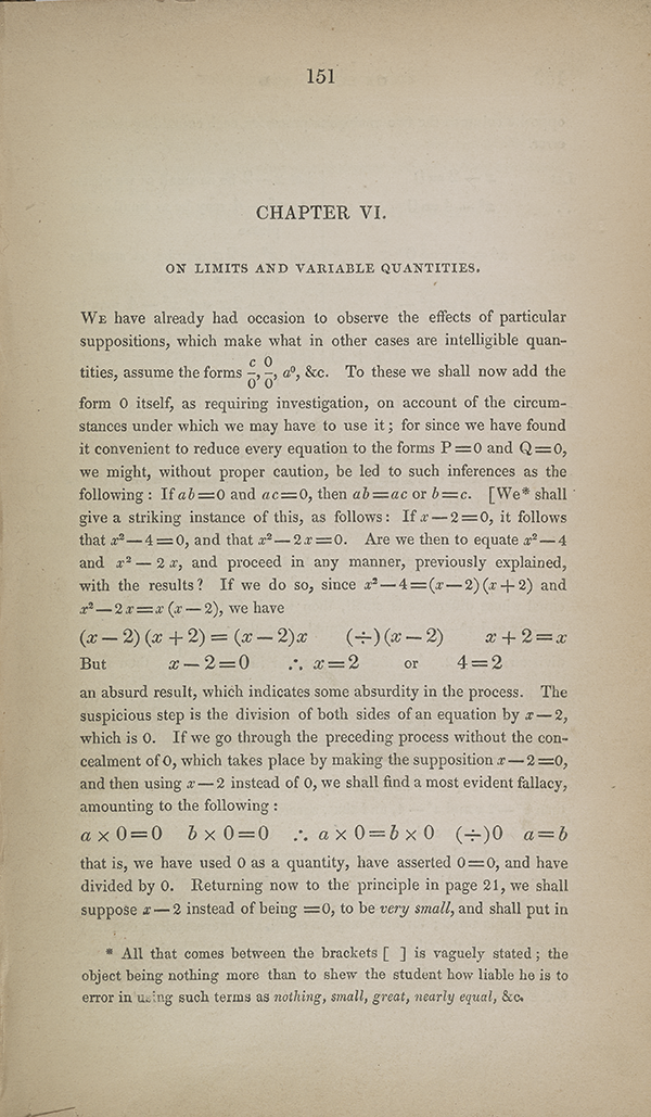 Page 151 of Augustus De Morgan's 1835 Budget of Paradoxes.