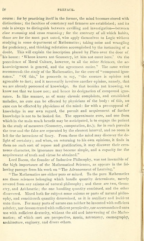 Second page of the Preface to Euclid's Elements of Geometry by Robert Potts from 1871