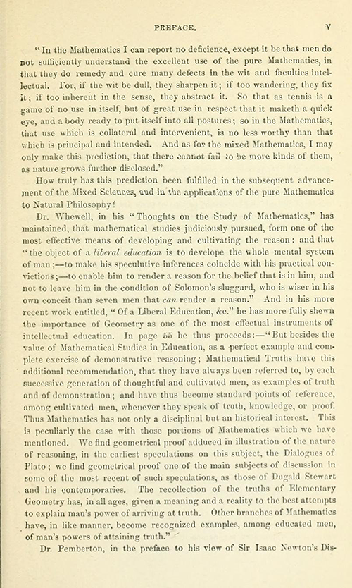 Third page of the Preface to Euclid's Elements of Geometry by Robert Potts from 1871
