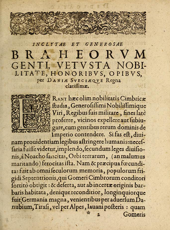 First page of dedication from Tychonis Brahie Dani Hyperaspistes by Johann Kepler, 1625