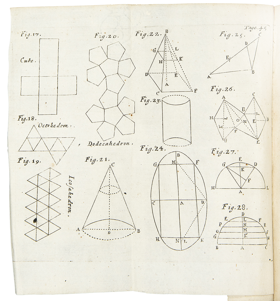 Geometry plate from John Newton's 1694 Cosmographia.